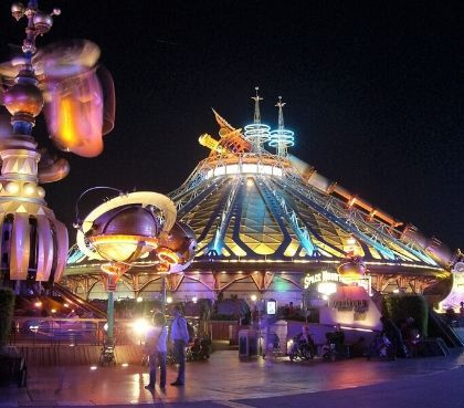 extreme sensation in Hyperspace Mountain Disneyland Paris