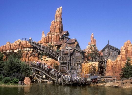 big thunder mountain attraktion disneyland paris foto