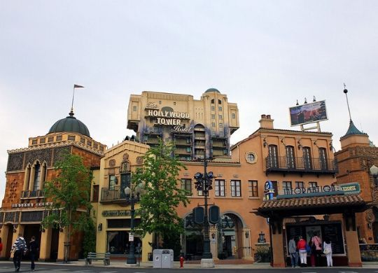 twilight zone tower of terror attraktion disneyland paris foto